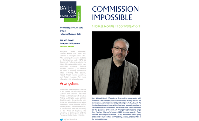Commission Impossible: Michael Morris	in Conversation
